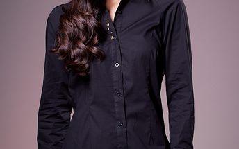 Dámská černá košile Ada Gatti s kovovými cvoky