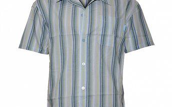 Pánská světle modrá proužkovaná pyžamová košile Calvin Klein
