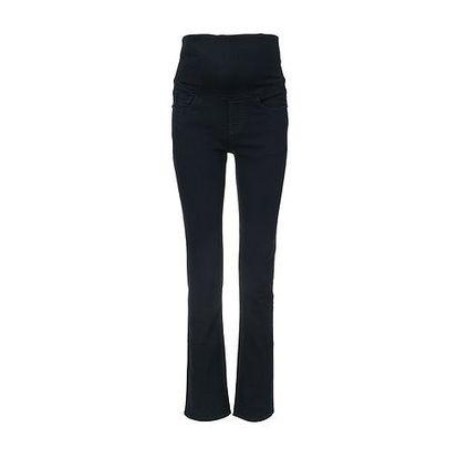 Tmavě modré rovné džíny s džínovým pásem