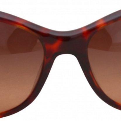 Dámské červené retro žíhané brýle Jil Sander