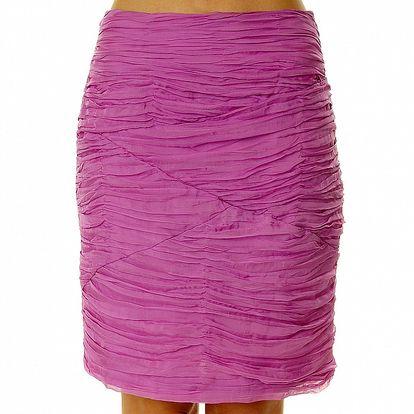 Dámská růžová sukně s kaskádami Roberto Verino