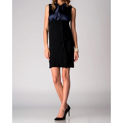 Dámské černo-modré šaty Soap Art s volánem a vázankou
