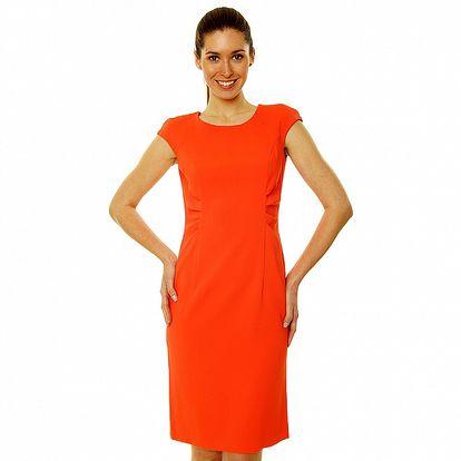 Dámské červené šaty ve stylu Kirsten Dunst Roberto Verino
