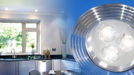 Úsporné a výkonné bodové světlo (3W LED) s adaptérem nahradí světlo o výkonu 40W