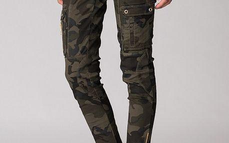Dámské military kalhoty Soap Art se zlatými zipy
