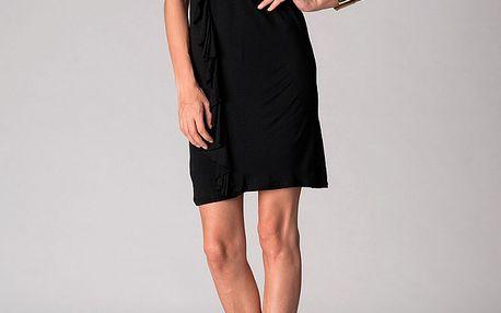 Dámské černo-červené šaty Soap Art s volánem a vázankou