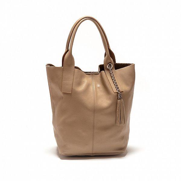 Dámská béžová kabelka se střapcem Sonia Ricci