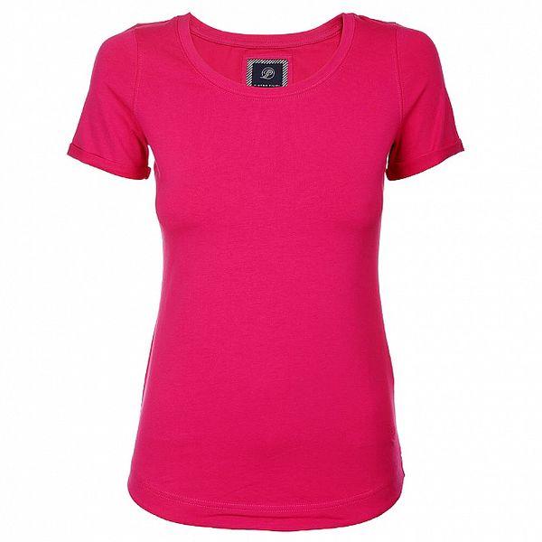 Dámské růžové tričko Pietro Filipi s krátkým rukávem