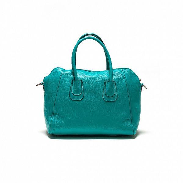Dámská tyrkysově modrá kožená kabelka Sonia Ricci