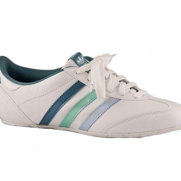 Dámské bílé tenisky Adidas s barevnými proužky