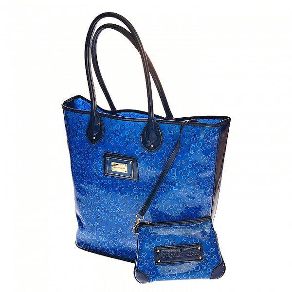 Velká modrá plážová taška Roccobarocco