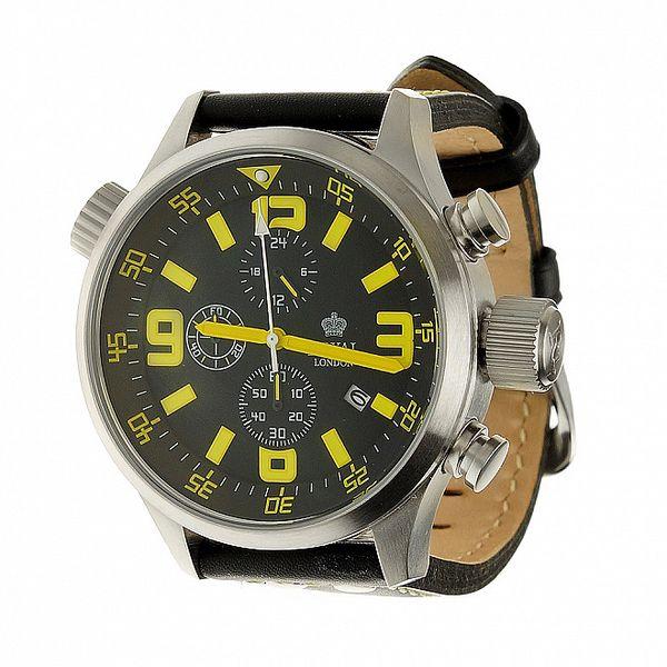 Ocelové hodinky Royal London s neonovými číslicemi