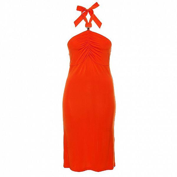 Dámské korálově červené šaty Phard