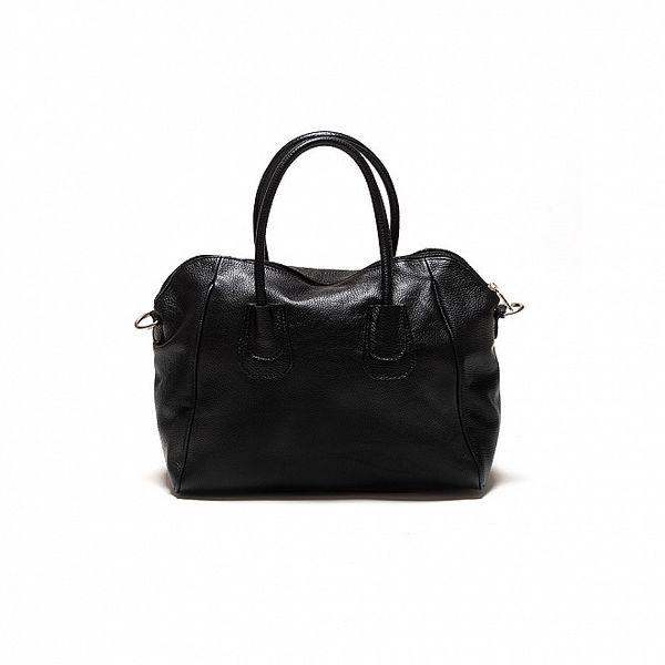 Dámska čierna kožená kabelka Sonia Ricci