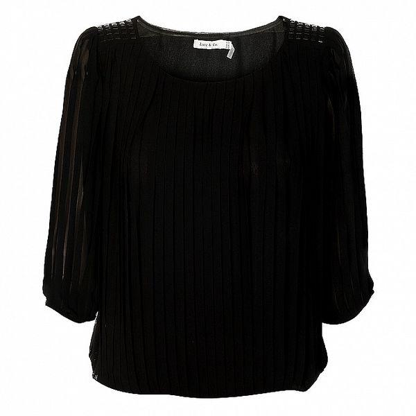 Dámská černá plisovaná halenka Lucy Paris