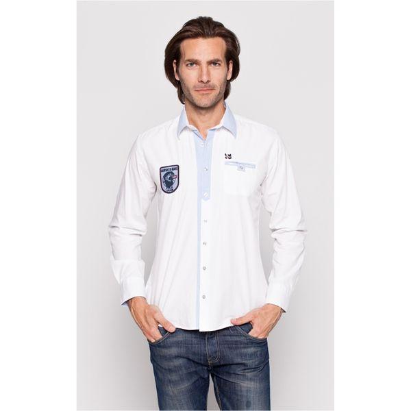 Pánská košile Giorgo di Mare bílá bledě modrý lem