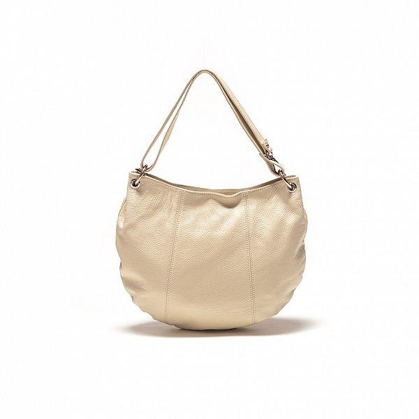 Dámska béžová kabelka oválneho tvaru Sonia Ricci