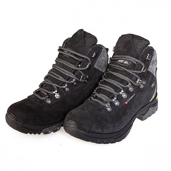 Černé vysoké trekingové boty F7 Nevada s membránou a Vibramem