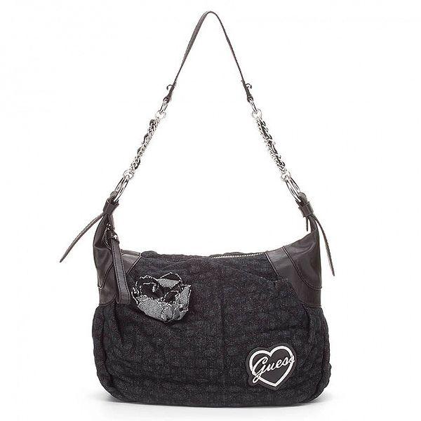 Dámská malá černá kabelka Guess s řetízkem