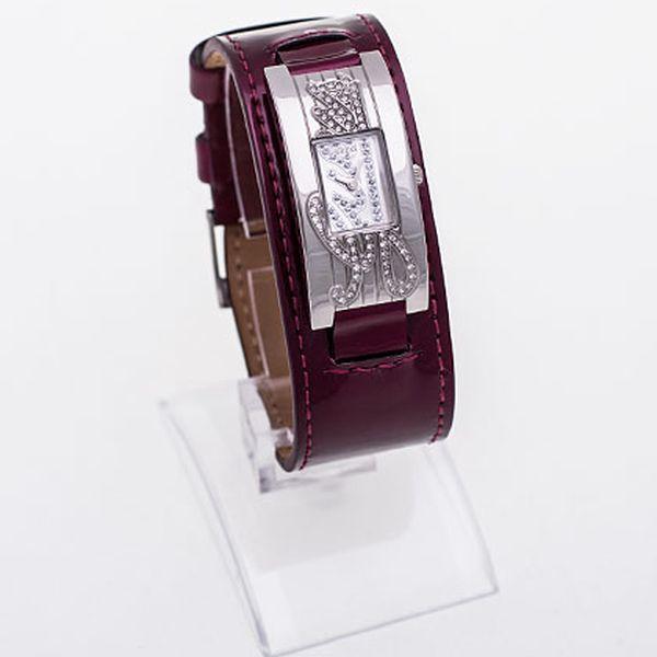 Bordó hodinky Guess Swarovski Mini Autograph