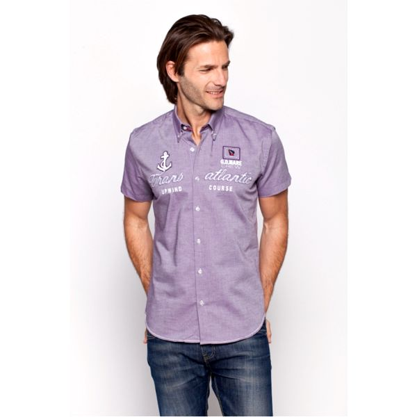 Pánská košile Giorgo di Mare fialová krátký rukáv