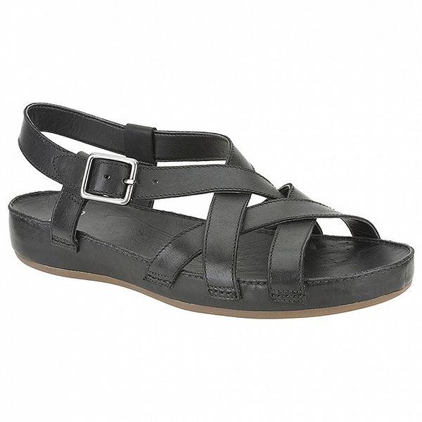 Dámske čierne sandálky s širokou platformou Clarks