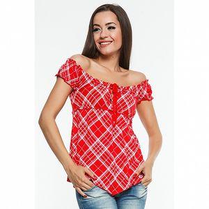 Dámské červené kárované triko Renata Biassi