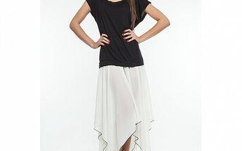 Dámské černo-bílé šaty se šněrováním na zádech Renata Biassi