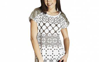 Dámské tričko s flitrovými rameny Renata Biassi