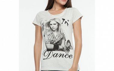 Dámské bílé triko s potiskem Renata Biassi