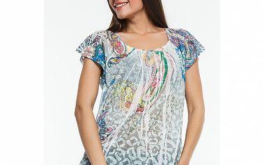 Dámské světle modré triko s potiskem Renata Biassi