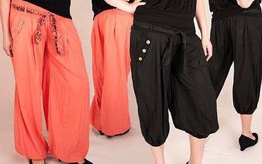 Moderní letní kalhoty ve dvou délkách za polovinu!