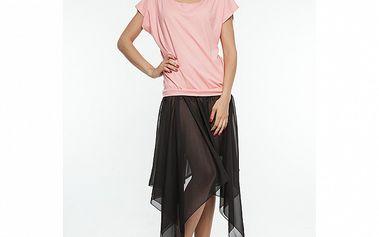 Dámske čierno-ružové šaty so šnurovaním na chrbte Renata Biassi