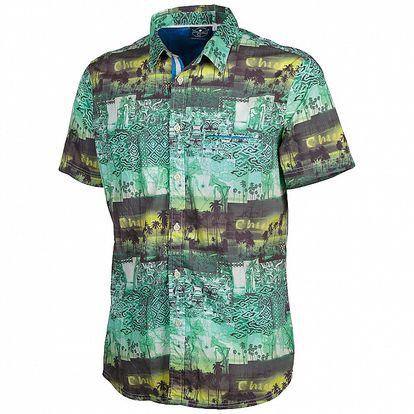 Pánská zeleno-žlutá košile s tropickým vzorem Chiemsee