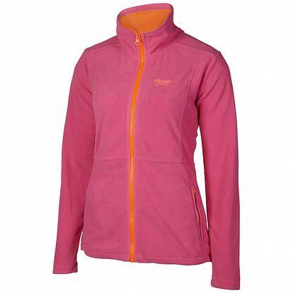 Dámská růžovo-oranžová sportovní fleecová mikina Chiemsee
