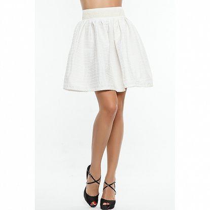 Dámská bílá sukně s proužkem Renata Biassi