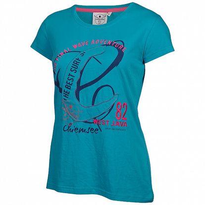 Dámské modré tričko Chiemsee s potiskem a výšivkou