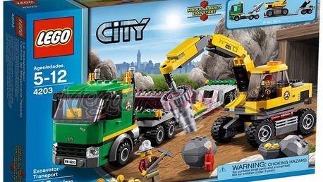 Lego City 4203 - Přeprava rypadla - LEGO City