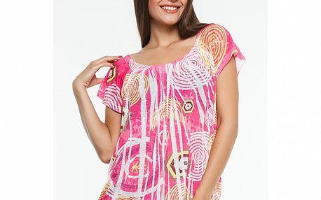 Dámské růžové triko s potiskem Renata Biassi