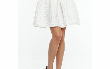 Dámska biela sukňa s prúžkom Renata Biassi
