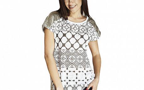 Dámske tričko s flitrovými ramenami Renata Biassi