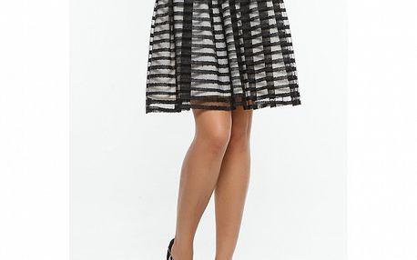 Dámska čierna pruhovaná sukňa s bielou podšívkou Renata Biassi