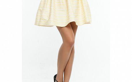 Dámská béžovo-žlutá sukně s proužkem Renata Biassi