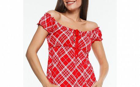 Dámske červené kárované tričko Renata Biassi