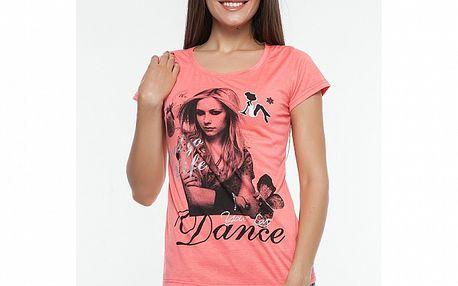 Dámske ružové tričko s potlačou Renata Biassi