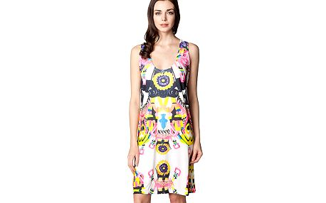 Šaty na ramínka s krajkou na zádech Sun Flowers
