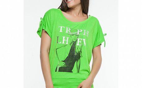 Dámske zelené tričko s potlačou Renata Biassi
