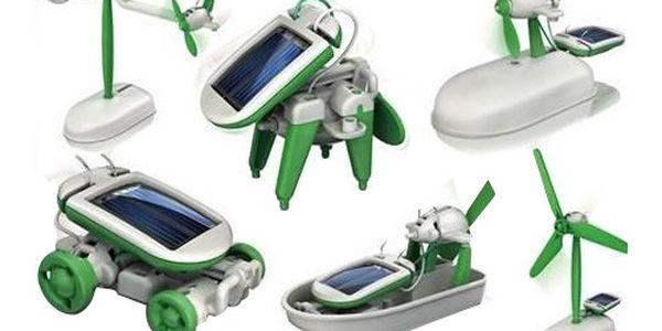 Solar bot 6 v 1 - interaktivní hračka na solární pohon a poštovné ZDARMA! - 166