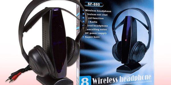Multifunkční bezdrátová sluchátka 8v1 s vynikajícím prostorovým zvukem
