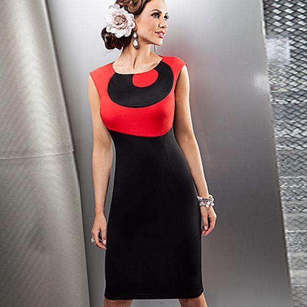 Červeno-černé šaty